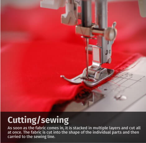 cutting sewing